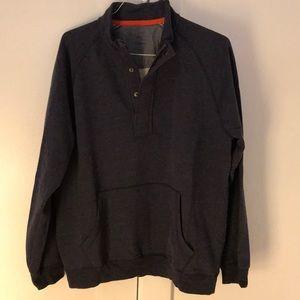 Men's L.L. Bean Gray Half Button Button Pullover L